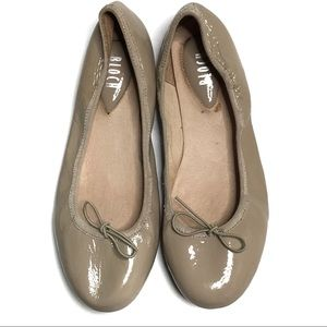 Bloch Nude / Tan Patent Leather Ballet Flats